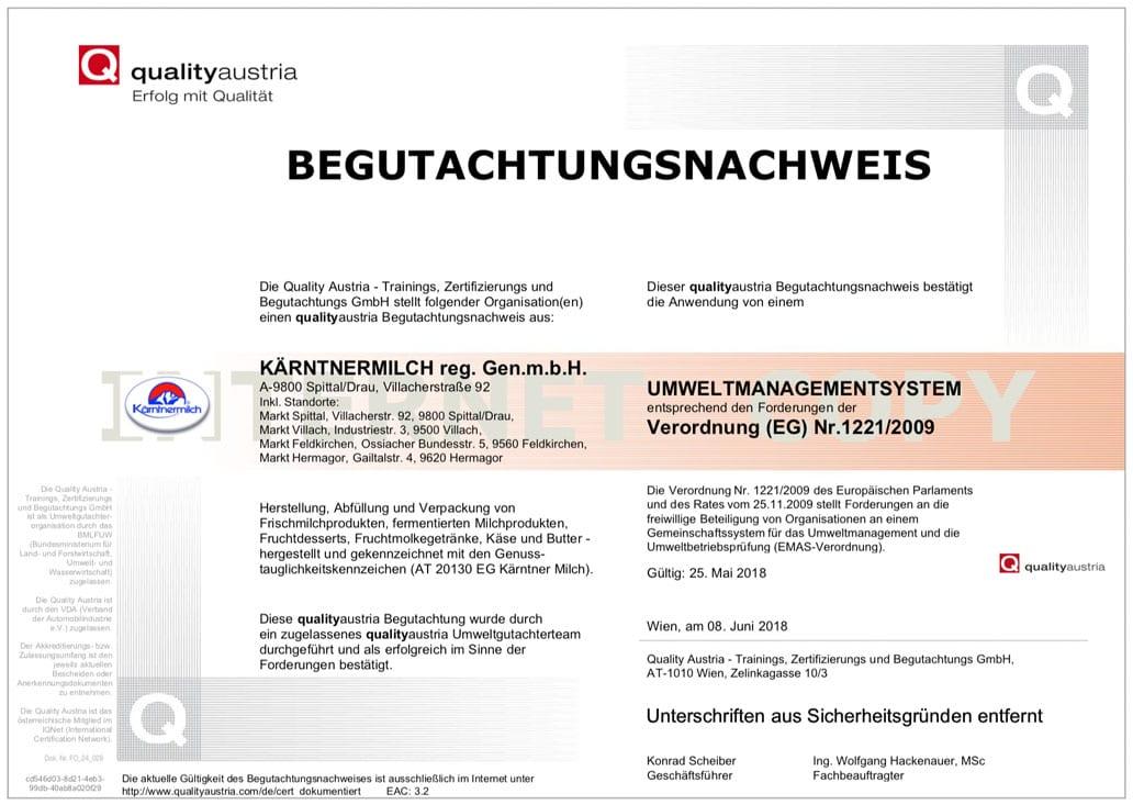 EMAS-Deutsch-Zertifikat
