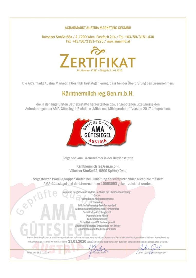 Kärntnermilch-reg.Gen.m.b.H.-AMA_GS_2019