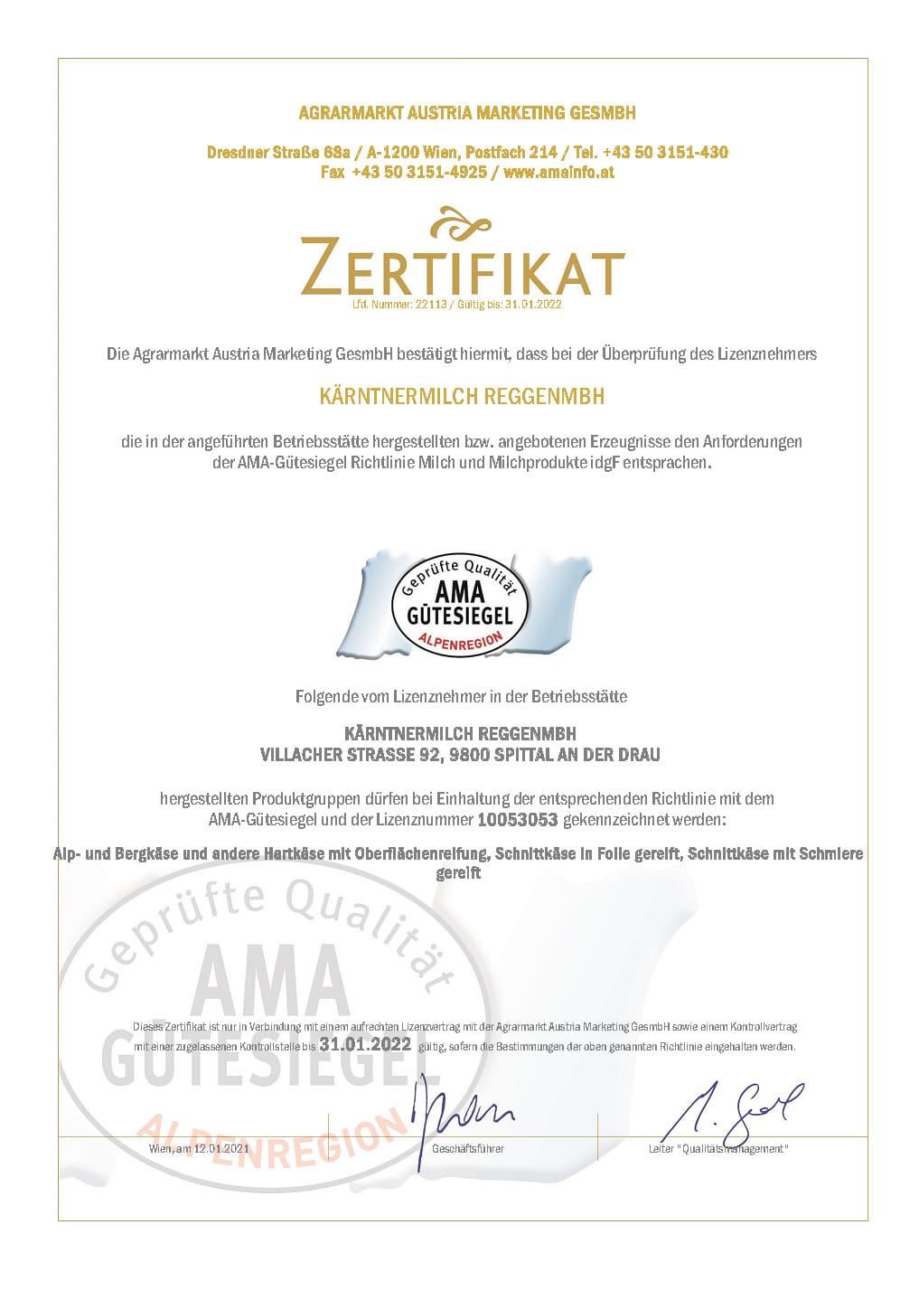ama-alpenregion-kaerntnermilch-reggengmbh-zertifikat