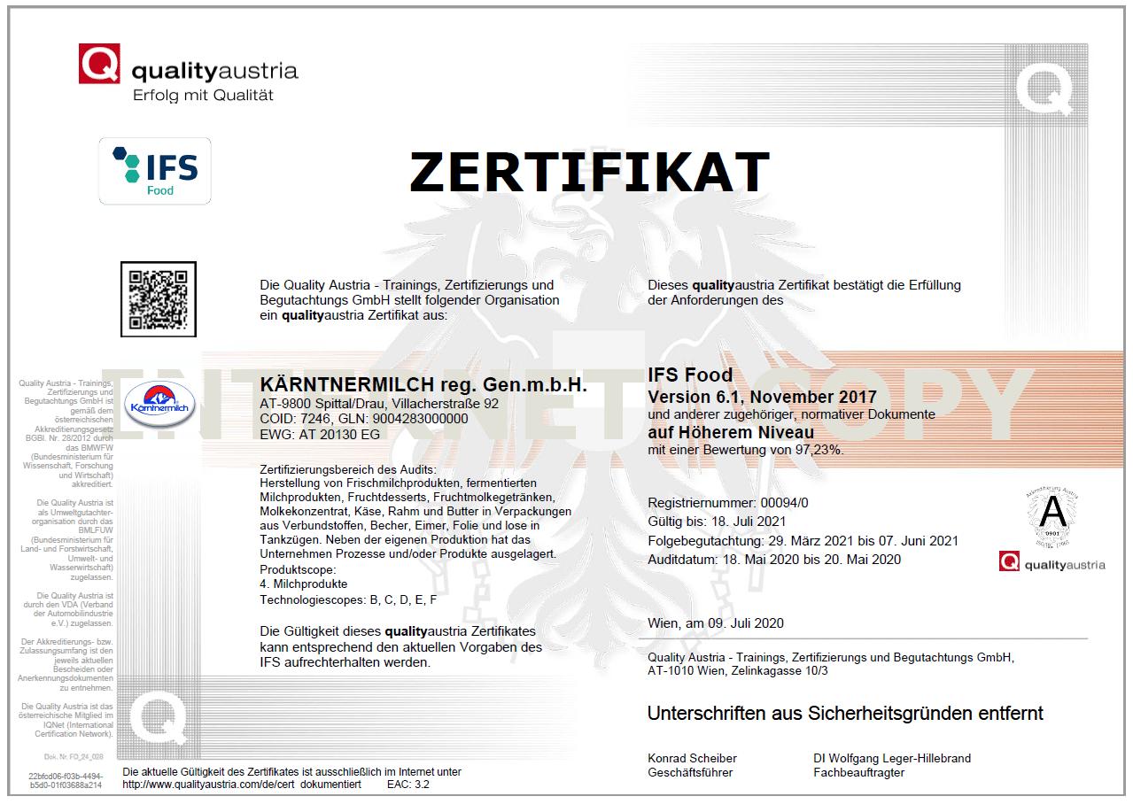 ifs-food-zertifikat-austria-kaerntnermilch